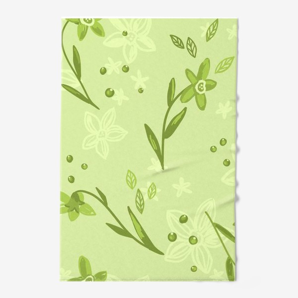 Полотенце «Зелёные нарциссы»