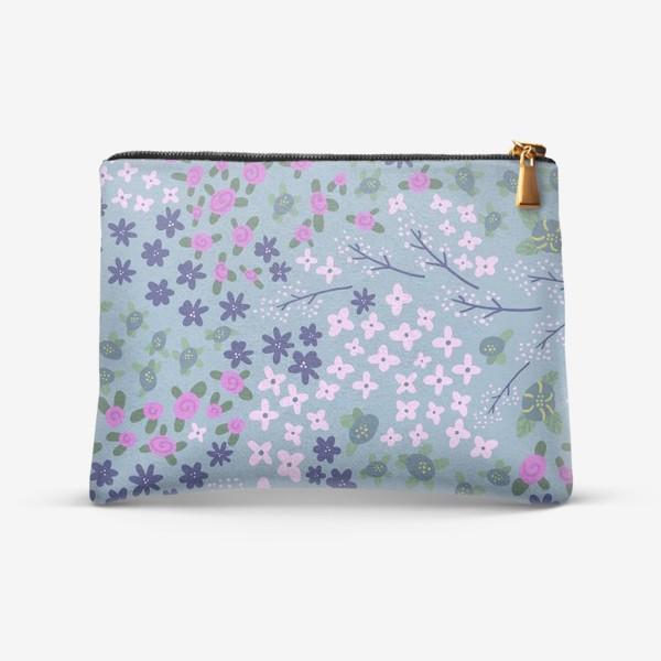 Косметичка «Нежное цветущее поле в стиле японского кимоно»