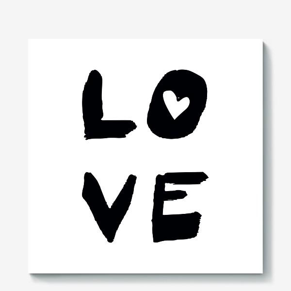 Холст «Надпись Love »