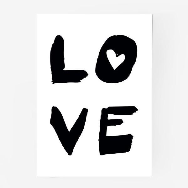 Постер «Надпись Love »
