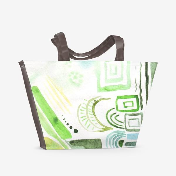 Пляжная сумка «Акварельные фантазии 2»