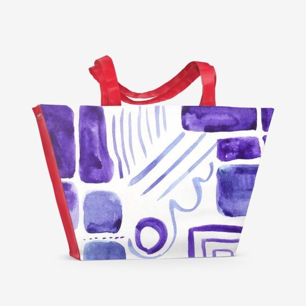 Пляжная сумка «Акварельные прямоугольники»