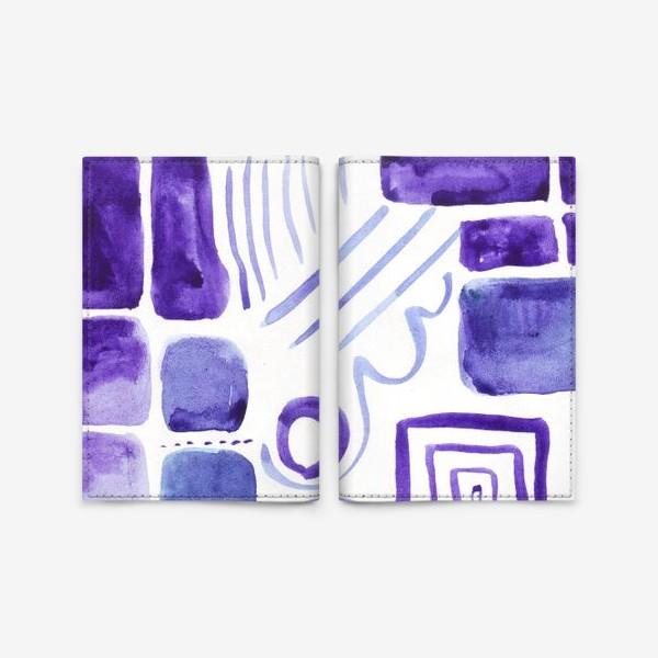 Обложка для паспорта «Акварельные прямоугольники»