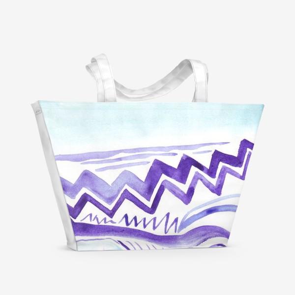 Пляжная сумка «Акварельный зигзаг»