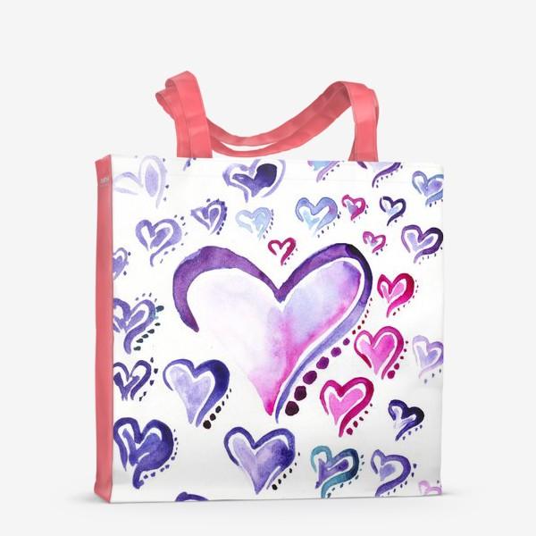Сумка-шоппер «Сердечки»
