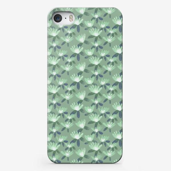 Чехол iPhone «Нежные салатовые цветы»