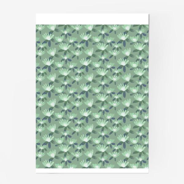 Постер «Нежные салатовые цветы»