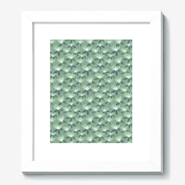 Картина «Нежные салатовые цветы»