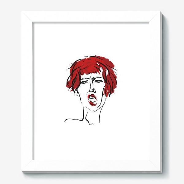 Картина «Red | Color hair | Fashion cкетч»