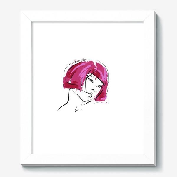 Картина «Fuchsia | Color hair | Fashion cкетч»