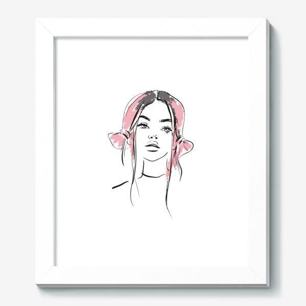 Картина «Pink | Color hair | Fashion cкетч»