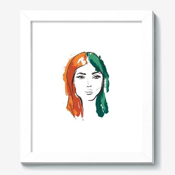 Картина «Autumn | Color hair | Fashion cкетч»