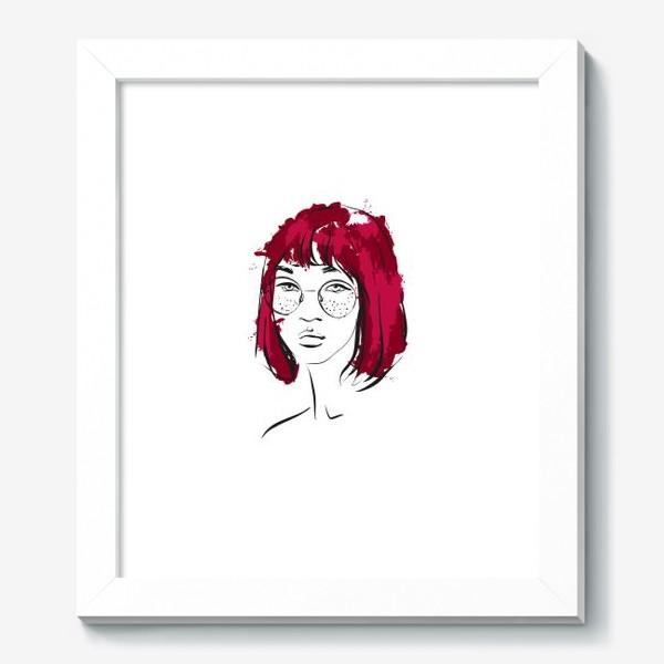 Картина «Burgundy | Color hair | Fashion cкетч»