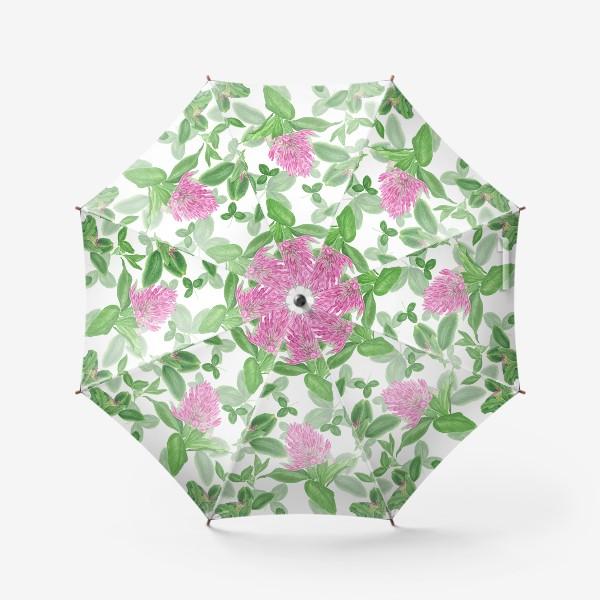Зонт «Цветы и листья клевера»