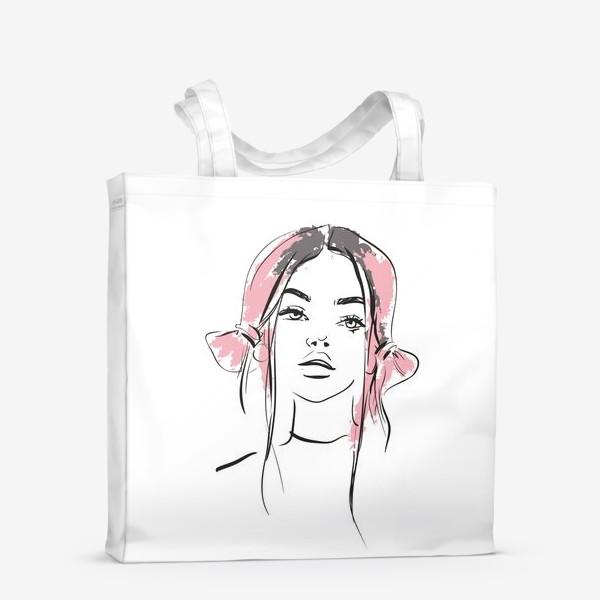 Сумка-шоппер «Pink | Color hair | Fashion cкетч»