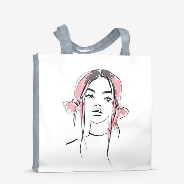 Сумка-шоппер «Pink   Color hair   Fashion cкетч»