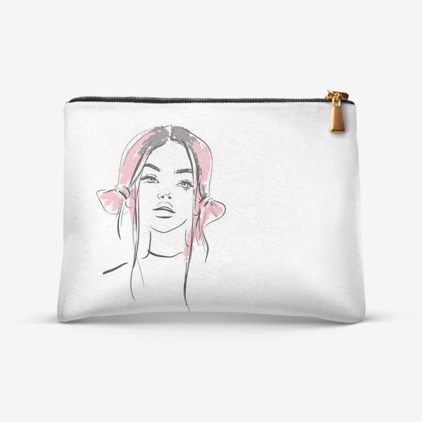 Косметичка «Pink   Color hair   Fashion cкетч»