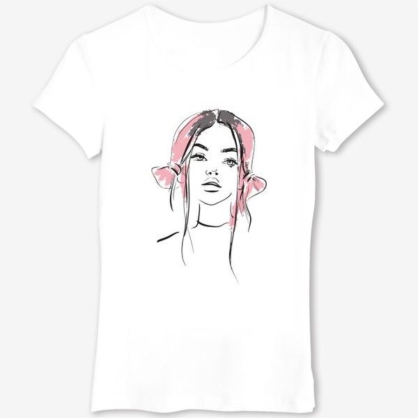 Футболка «Pink   Color hair   Fashion cкетч»