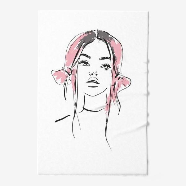 Полотенце «Pink | Color hair | Fashion cкетч»