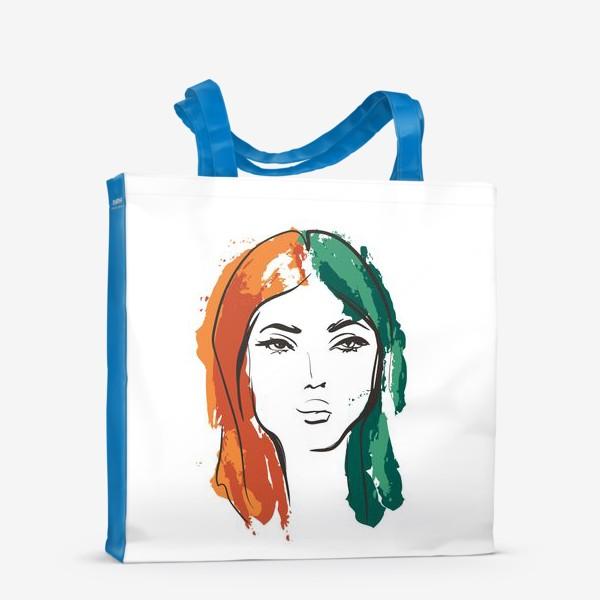 Сумка-шоппер «Autumn   Color hair   Fashion cкетч»