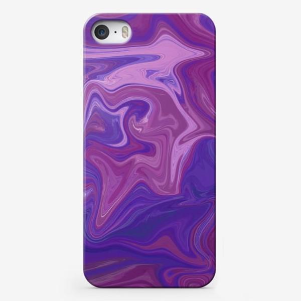 Чехол iPhone «Abstract painting. Liquid painting. lilac FANTASIES»