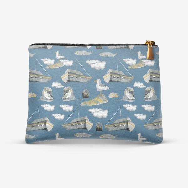 Косметичка «Море, чайки, корабли»