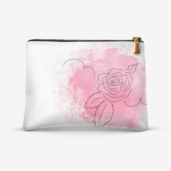 Косметичка «Акварельная роза. Розовая»