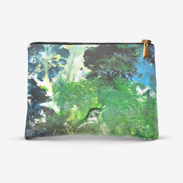 Косметичка «Абстракция с растениями»