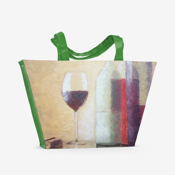 Пляжная сумка «Натюрморт с бокалом»