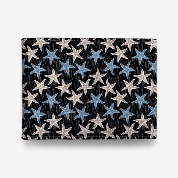 Кошелек «Морская звезда. Морские звёзды на темном фоне.»