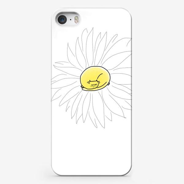 Чехол iPhone «Ромашка-кот »