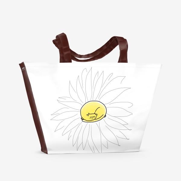 Пляжная сумка «Ромашка-кот »