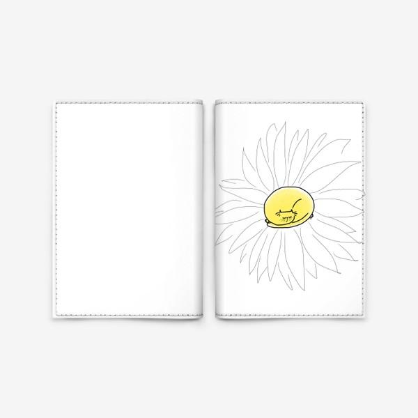 Обложка для паспорта «Ромашка-кот »