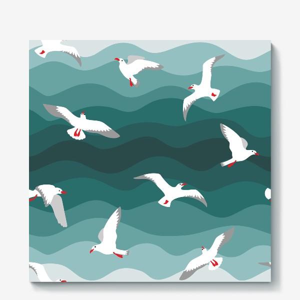 Холст «Чайки над морем»