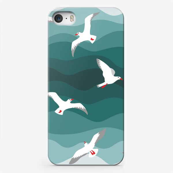 Чехол iPhone «Чайки над морем»