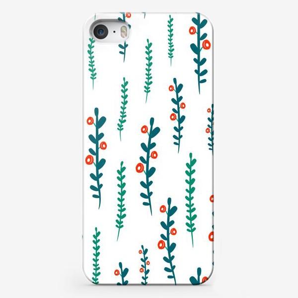 Чехол iPhone «веточки с ягодами»