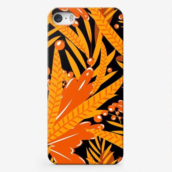Чехол iPhone «осенние листья и ягоды»