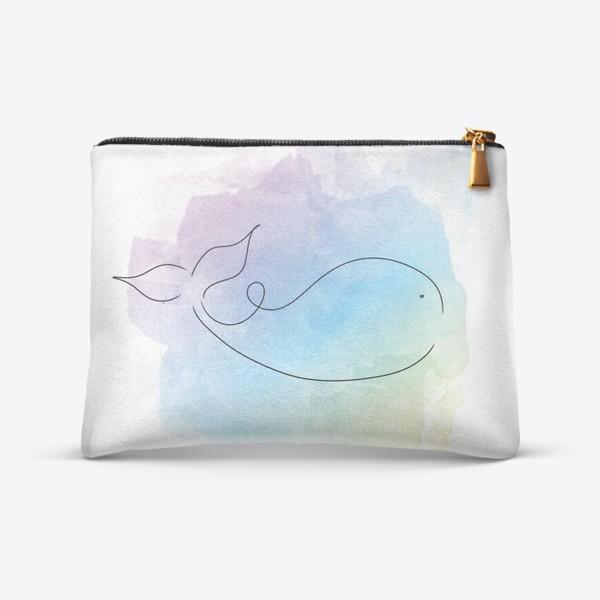 Косметичка «Акварельный кит»