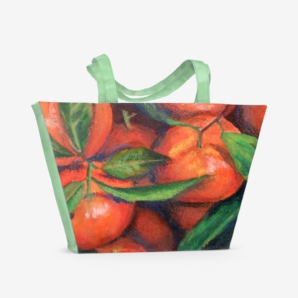Пляжная сумка «Мандарины»