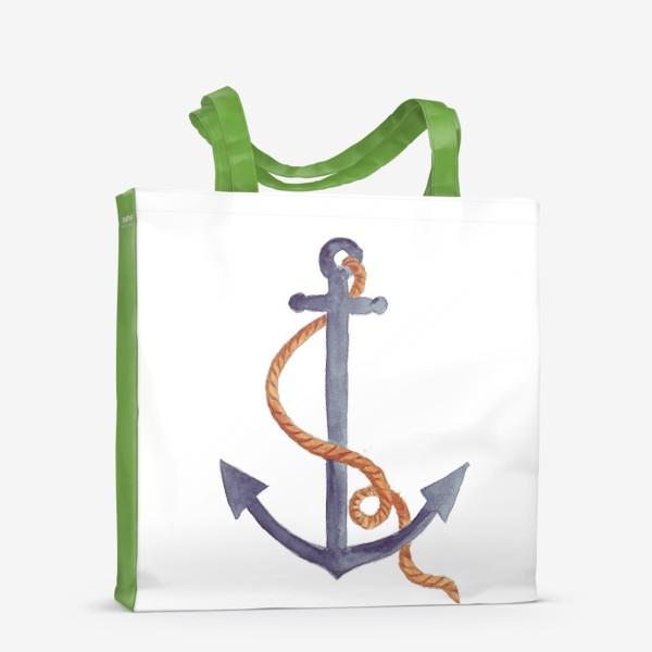 Сумка-шоппер «Якорь морской с канатом»
