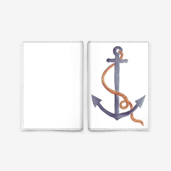 Обложка для паспорта «Якорь морской с канатом»