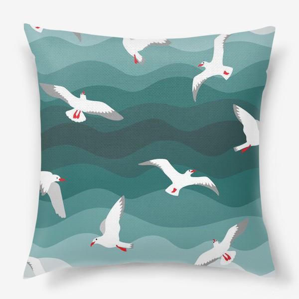 Подушка «Чайки над морем»