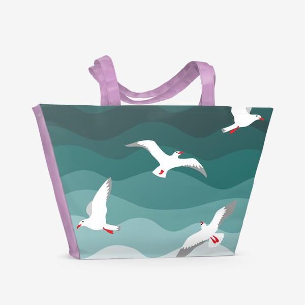 Пляжная сумка «Чайки над морем»