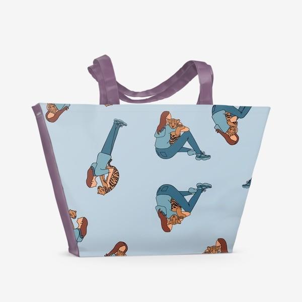 Пляжная сумка «Тигр тоже беззащитный малыш»