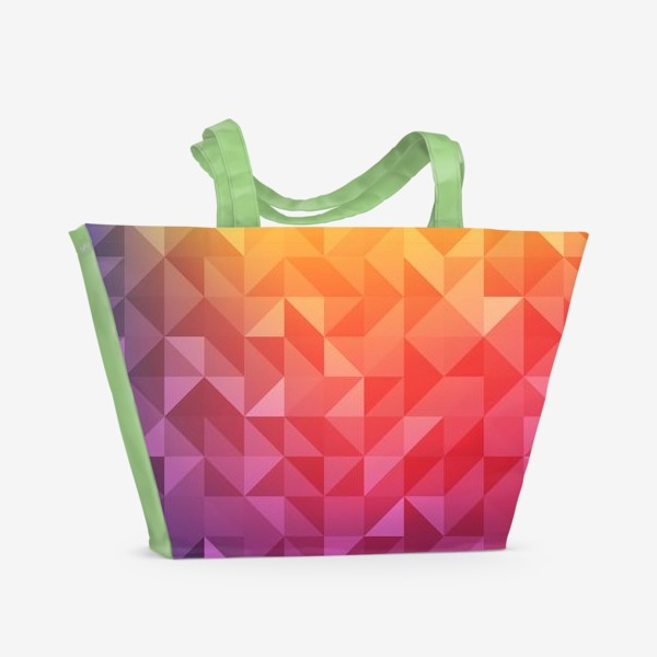 Пляжная сумка «Геометрия цвета»