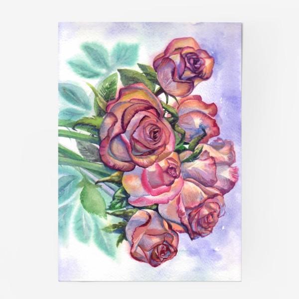 Постер «розы розовые , букет»