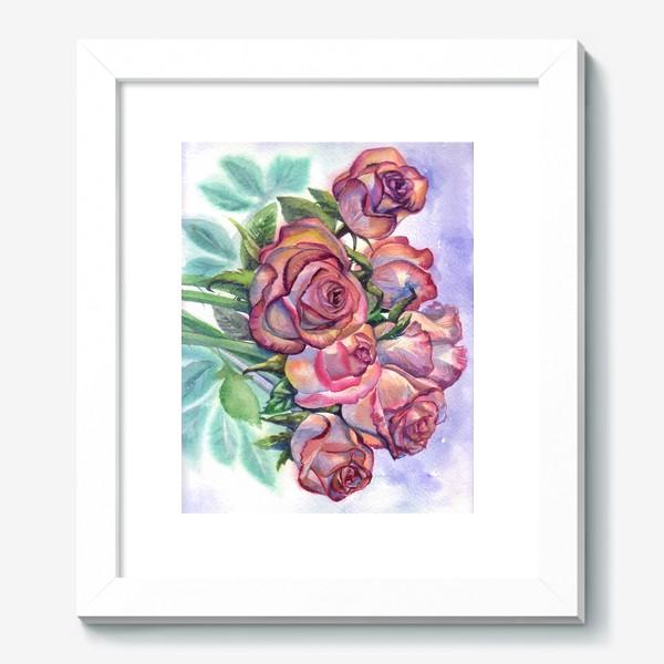 Картина «розы розовые , букет»
