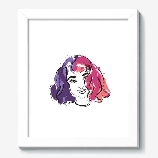 Картина «Viola | Color hair | Fashion cкетч»
