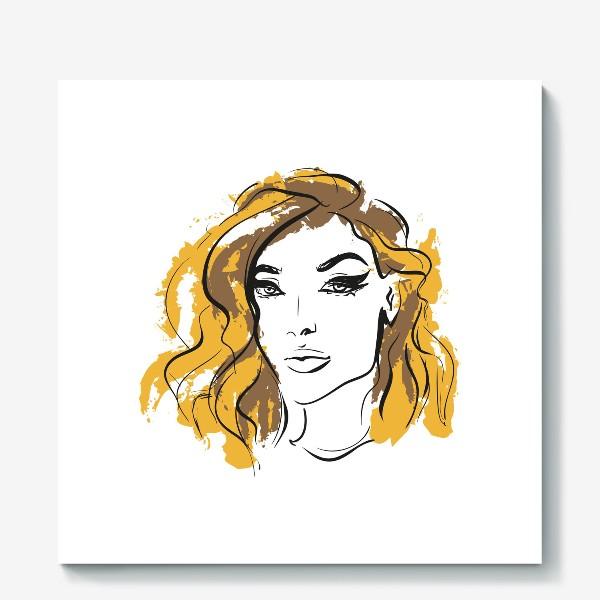 Холст «Ocher | Color hair | Fashion cкетч»