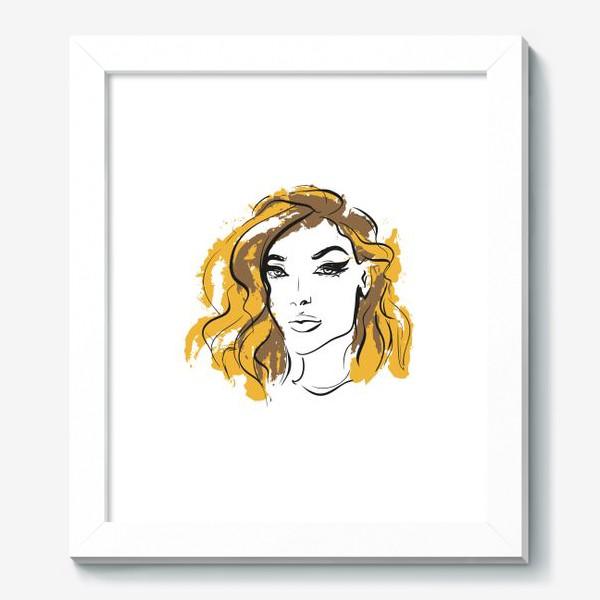 Картина «Ocher | Color hair | Fashion cкетч»
